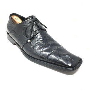 Mauri Oxfords Shoes Size 9 Black Full Alligator